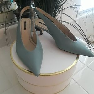 Zara light teal shoes